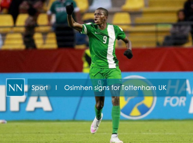 Osimhen - Star for Nigeria   at the Under-17 World Cup