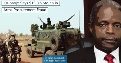 Osibanjo Says $15 Bln Stolen in Arms Procurement Fraud
