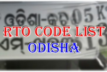 District Wise RTO Codes of Odisha