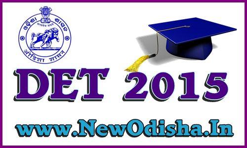 Odisha Diploma Entrance Test DET 2015