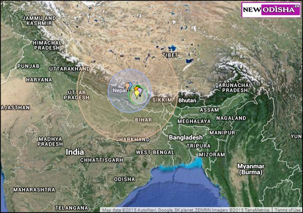 Earhquake in India on 25th April 2015
