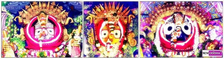 Sunabesa of Jagannath, Balabhadra, Subhadra
