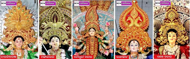 Golden Crowns on Cuttack Durga Puja 2015