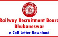 Download Admit Card of RRB Bhubaneswar against CEN No 03/2015