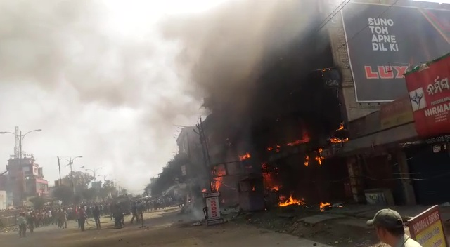 Massive fire at Cuttack Palamandap shopping mall creates panic