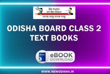 Odisha Board Class 2 Text Books by Odisha Primary Education