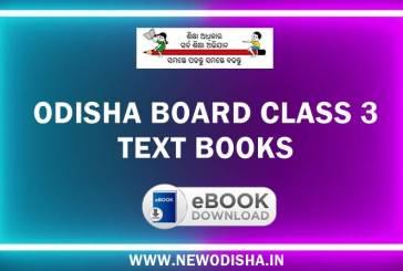 Odisha Board Class 3 Text Books by Odisha Primary Education