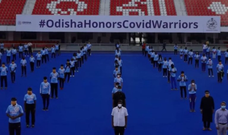 "Odisha Salutes COVID-19 warriors by reciting ""Bande Utkala Janani"""