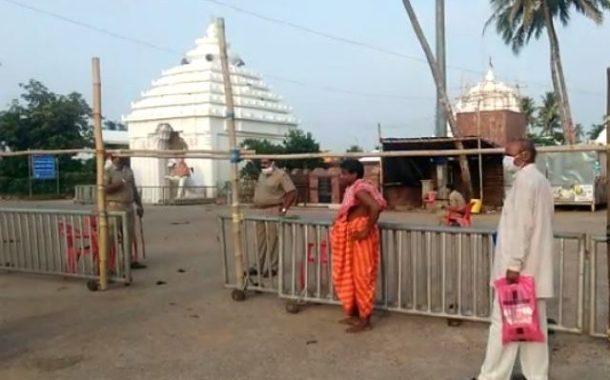 Anasara Darshan begins at Alarnath temple in Bramhagiri sans devotees