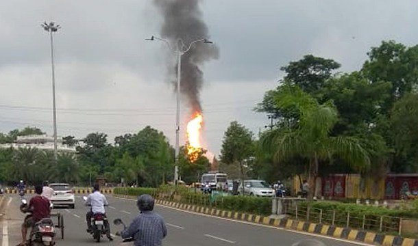 Petrol Pump Near Odisha Governor's House Burst Into Flames, Several Injured
