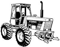 Ford 555A, 555B, 655A Tractor Loader Backhoe Service