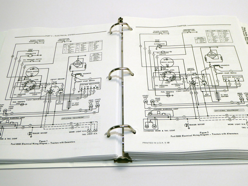 Ford 1210 Tractor Wiring Diagram Ford 8000 8600 9000 9600 Tractor Service Manual Repair