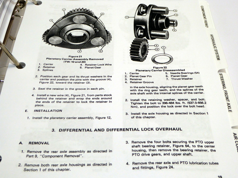 Ford TW-10, TW-20,TW-30 Tractor Service Manual Repair Shop
