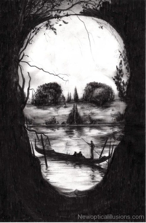 Scary Hidden Faces Art