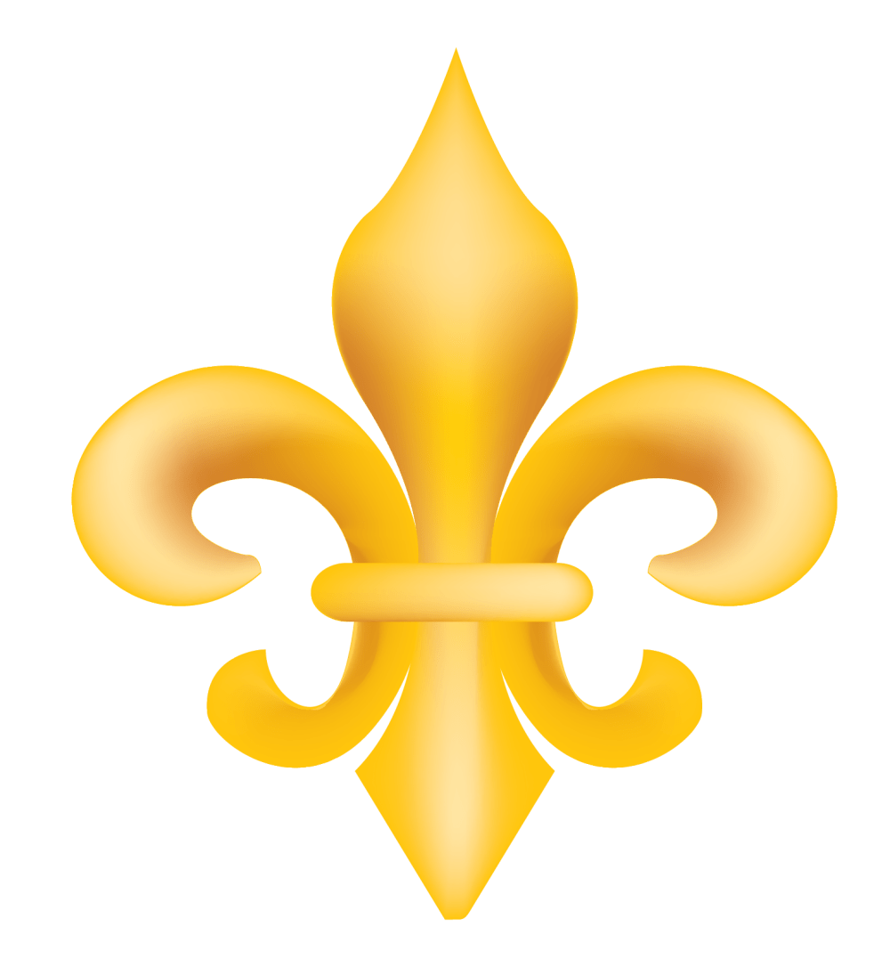 medium resolution of gold fleur de lis vector clip art