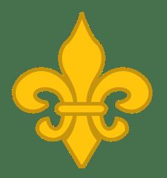 gold fleur de lis vector clip art [ 1517 x 1626 Pixel ]