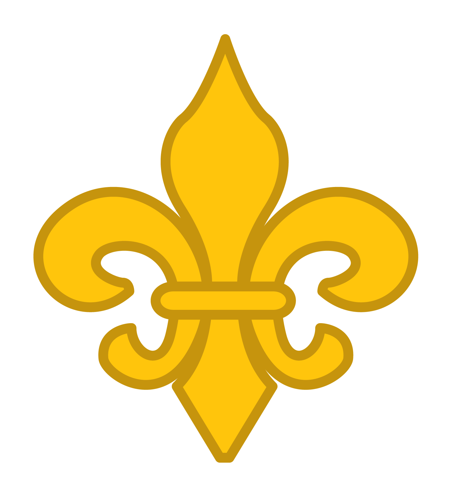 hight resolution of gold fleur de lis vector clip art
