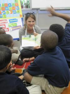 JLNO Members Reading Ladybug Girl at Lafayette Academy