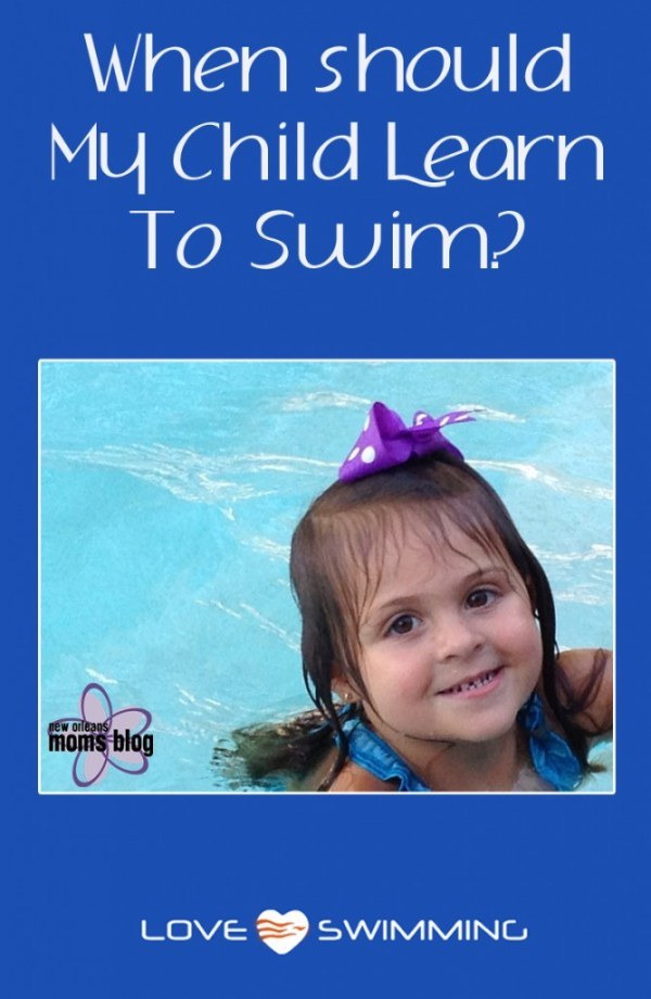 when to teach child swim
