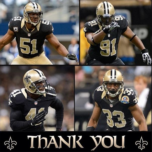 Saints siger farvel til fire Super Bowl vindere