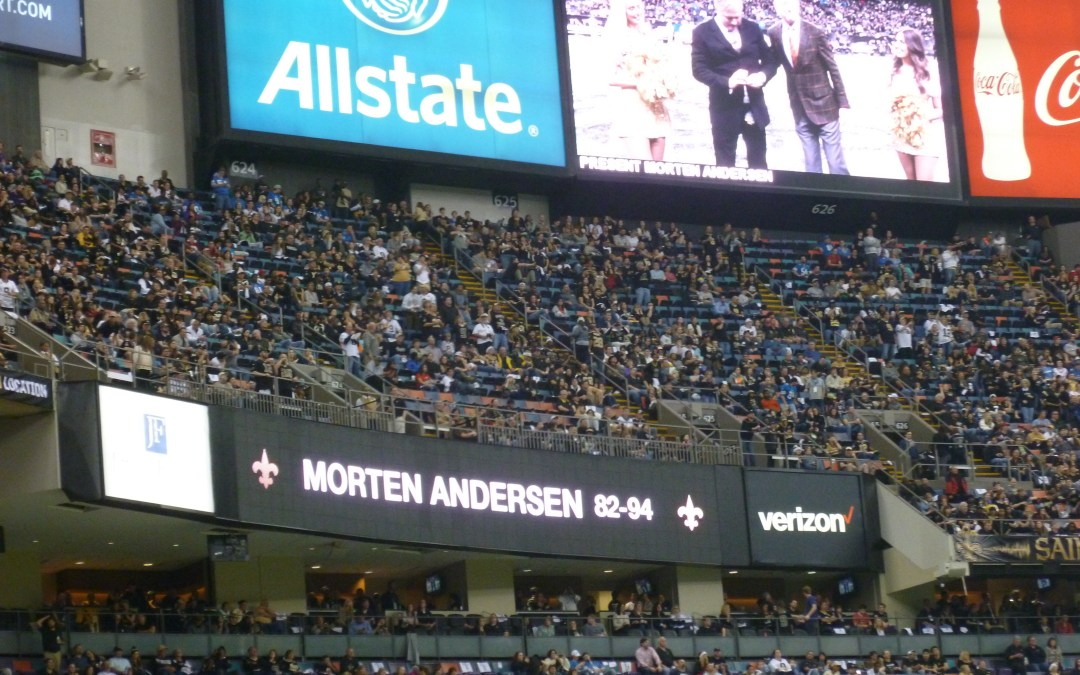 Fan report from old game in 2015; Lions vs Saints.