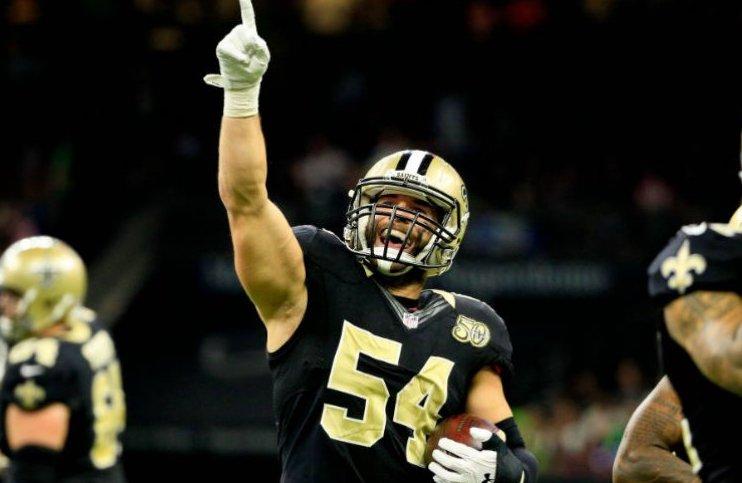 Saints mister linebacker Nate Stupar for sæsonen