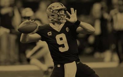Drew Brees kan tangere Tom Brady på søndag