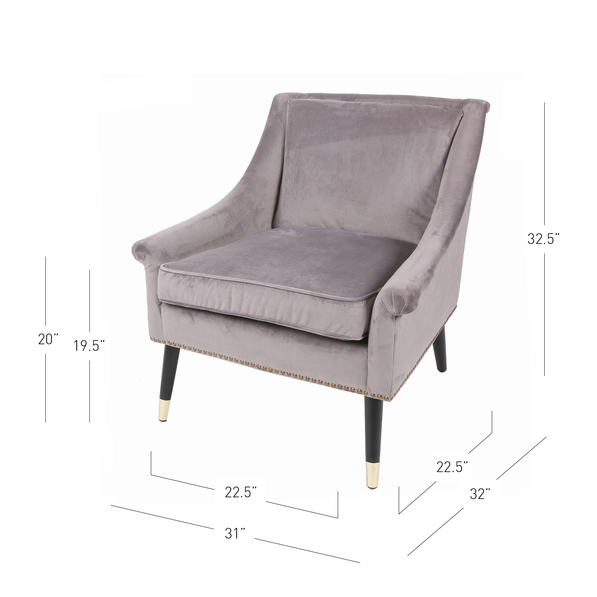 gold metal accent chair milk crate chairs 3500036 161 npd furniture wholesale lifestyle