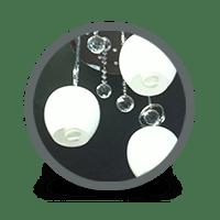 Guildmaster 2016505 Rustic Blu V Light Blue Vase Teardrop Pattern