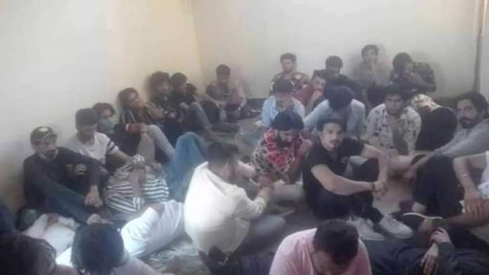 Boys and girls arrested in Raiwind during a private dance party