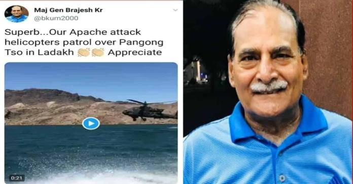 Indian army General gets trolled after sharing false video on Twitter