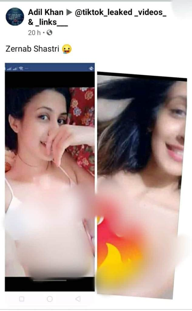 Zernab Shastri leaked video and pictures scandal