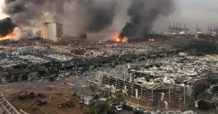 Blast in Beirut, Lebanon