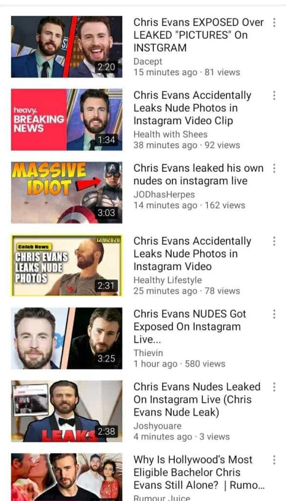 Chris Evans leaked photo