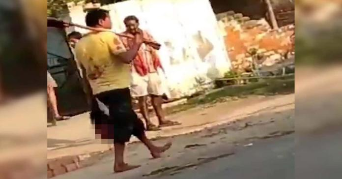 man in Indian state of Uttar Pradesh, chopped off his wife's head in a fit of rage about infidelity – then carried it to a police station and surrendered