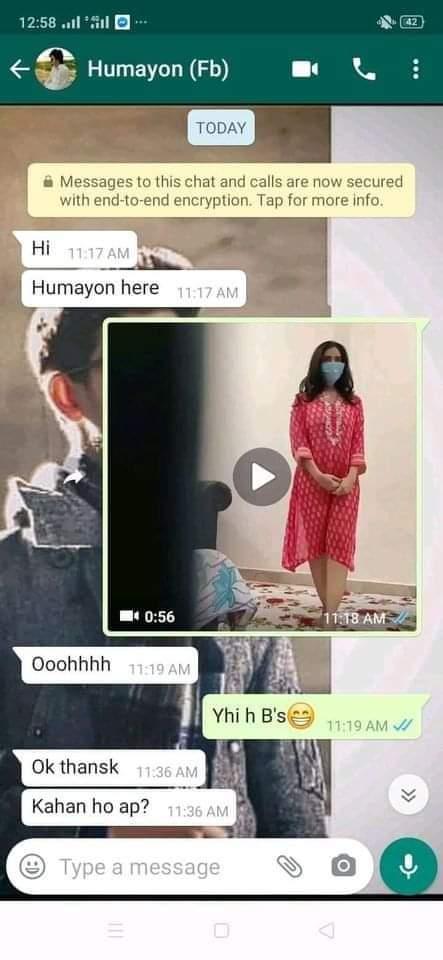 Social media user shares the Screenshot of viral video of Red-shirted Pakistani girl