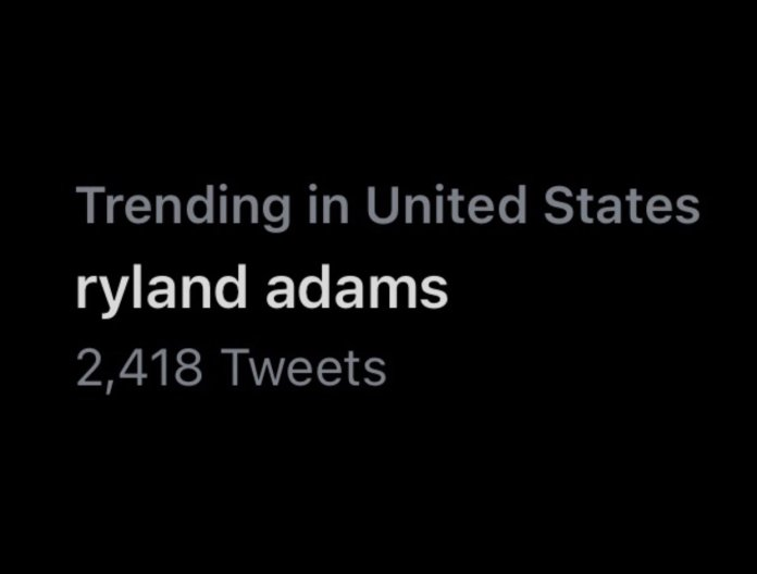 YouTuber Ryland Adams is Trending in the United States Twitter on February 8, 2021