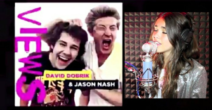 """David Dobrik and Jason Nash talk about Madison Beer leaked photos in the live podcast of David Dobirk on YouTube channel """"Views"""""""