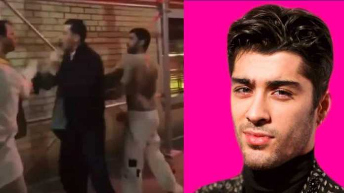 Zayn Malik allegedly seen getting into a street fight shirtless and he uses F-Slur