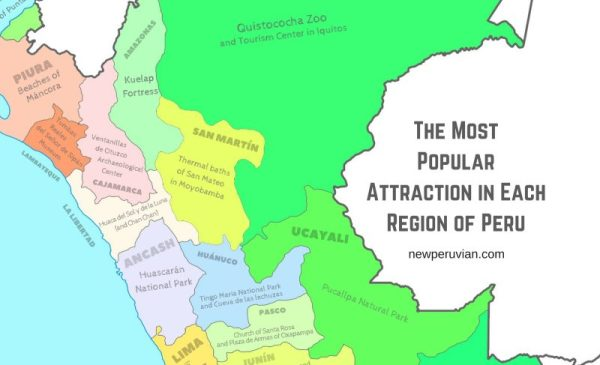 The Most Popular Attraction in Each Region of Peru A Map