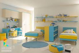 غرف نوم اطفال 2019 بسريرين اولاد