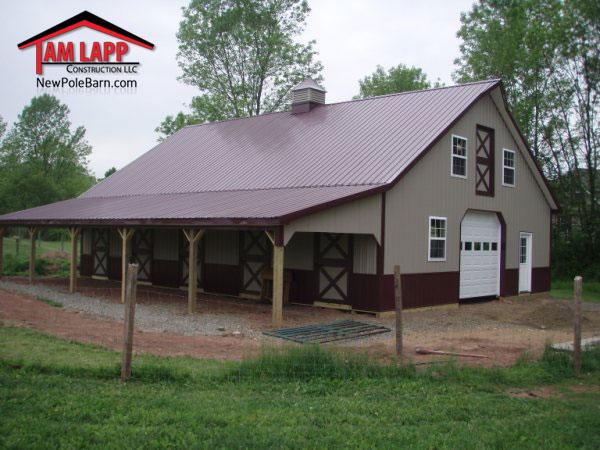 Horse Barn Polebarn Building Gilbertsville  Tam Lapp Construction LLC