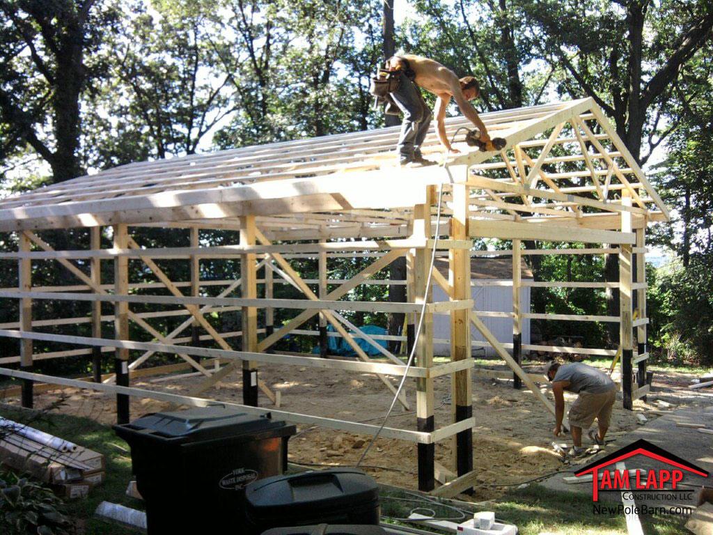 hight resolution of pole building in york pennsylvania