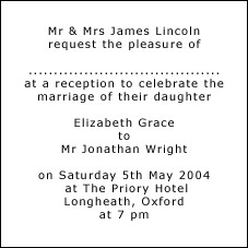 Wording For Wedding Reception Invitations Only PaperInvite