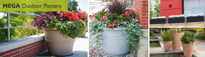 large outdoor planters at wholesale