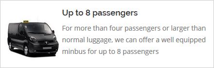 8 seat minibus cabs