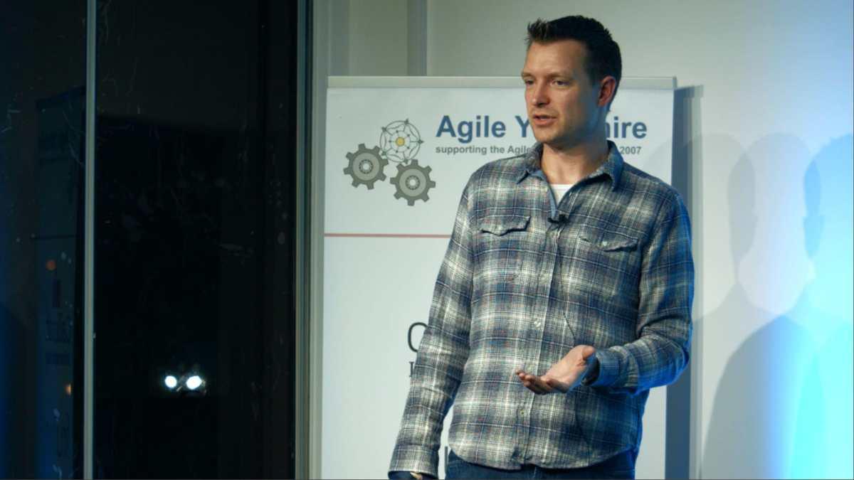 Geoff Watts speaking at Agile Yorkshire