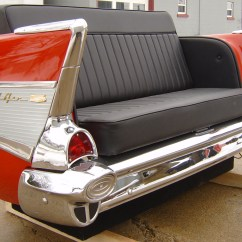 Cars Sofa Chair Clayton Marcus Warranty Chevy 1956 Statue Car Love Seat