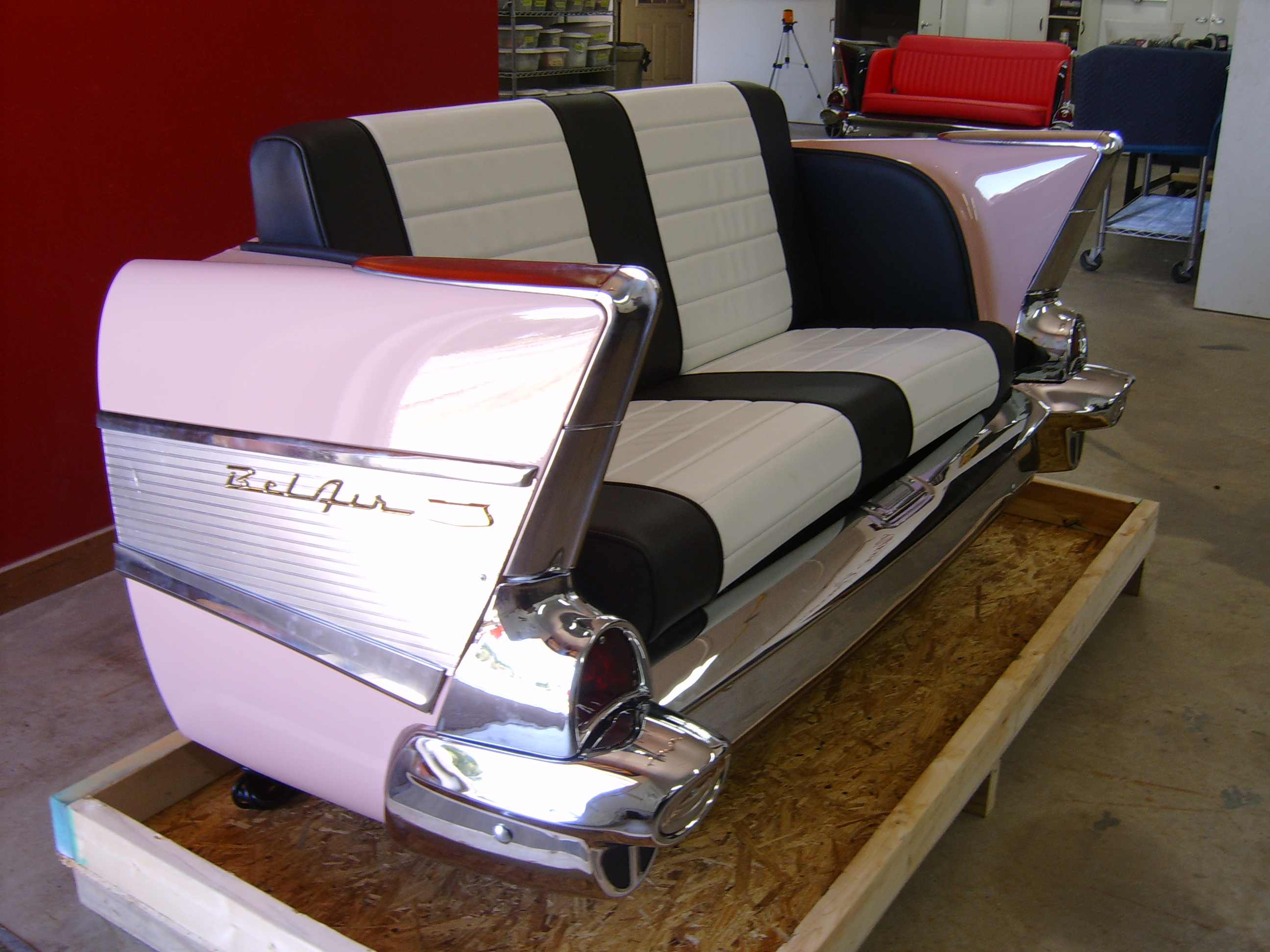 cars sofa chair elegant new retro restored classic car furniture and decor