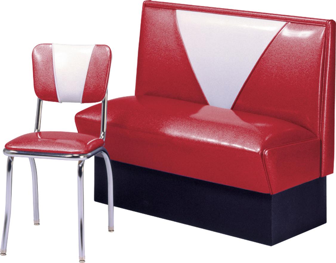 V4300  New Retro Dining VINTAGE VBack Series Booth